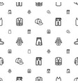 casual icons pattern seamless white background vector image vector image