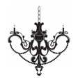 Classic baroque chandelier on white vector image