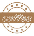 coffee beans stamp vector image vector image