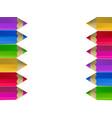 colour pencils border on white background vector image