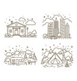 cute line icons vector image vector image