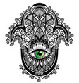 decorative hamsa vector image