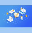digital marketing agency vector image vector image