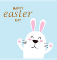 easter card with cute bunny isolated vector image vector image