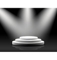 empty podium on black vector image vector image