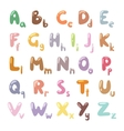 English funny cartoon alphabet vector image vector image