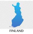 finland map in europe continent design vector image