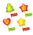 Four bright holiday lollipop vector image vector image
