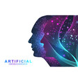 futuristic artificial intelligence and machine vector image vector image