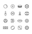 game and sport icons of thin lines vector image