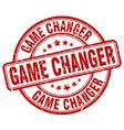 game changer red grunge round vintage rubber stamp vector image