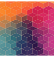 geometric pattern with geometric shapes rhombus vector image vector image