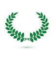 green laurel wreath icon for web design award vector image