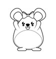 hamster kawaii cartoon vector image vector image