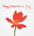 Hand written quote Happy Valentines day and red vector image vector image