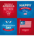 happy independence day usa cards vector image vector image