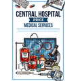 hospital service price list sketch vector image vector image