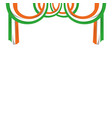 indian flag hanging decorating frame vector image vector image