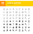 law justice line web glyph icons vector image