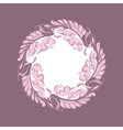 light rose color Art Nouveau style vector image vector image
