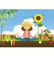 lovely garden place vector image