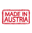 made in austria stamp text vector image vector image