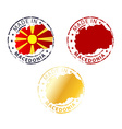 made in Macedonia stamp vector image vector image