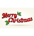 Merry Christmas text worked out to details with vector image