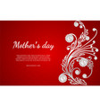 Mother s day greeting card with white with pearls