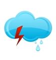 nature rain cloud symbol blue color vector image vector image