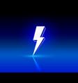 neon sign lightning signboard on black vector image vector image