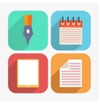 Office and Business Icons Set in Flat Design vector image vector image