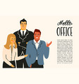 office people office vector image vector image
