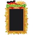 Oktoberfest Menu Blackboard Template vector image vector image