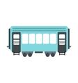 Passenger railway waggon icon vector image vector image