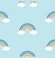 pastel rainbow seamless pattern vector image vector image