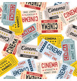 pattern cinema ticket retro style vector image vector image