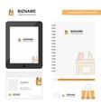 pencil box business logo tab app diary pvc vector image vector image
