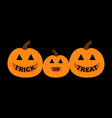 pumpkin family happy halloween mother father baby vector image vector image
