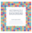 puzzle frame background vector image vector image