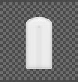 realistic detailed 3d white blank storage clothes vector image vector image