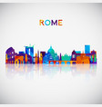 rome skyline silhouette in colorful geometric vector image