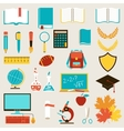 School and education icons set vector image