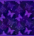 seamless pattern butterflies vector image vector image