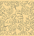 seamless pattern with monstera tropical leaves vector image vector image