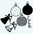 Set Christmas toys and decorations vector image