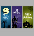 set halloween templates vector image