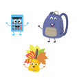 Set of funny characters from calculator school