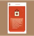 shopping bag mobile vertical banner design design vector image vector image