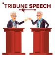 speaker man businessman politician giving vector image vector image